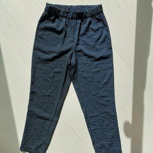 H&M Navy trousers with elastic waist